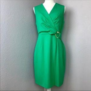 Calvin Klein Green Career Sheath Dress